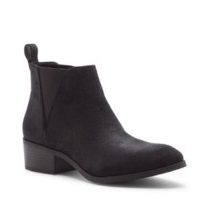 Sole Society Mars Black Suede Booties